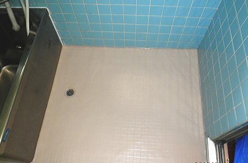 浴室床タイルリフォーム長崎県佐世保市ユウシード東洋株式会社施工後