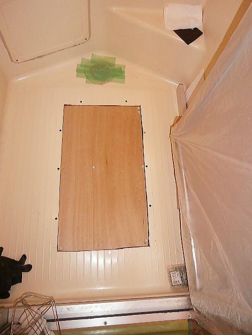 浴室床リフォーム長崎施工中-3