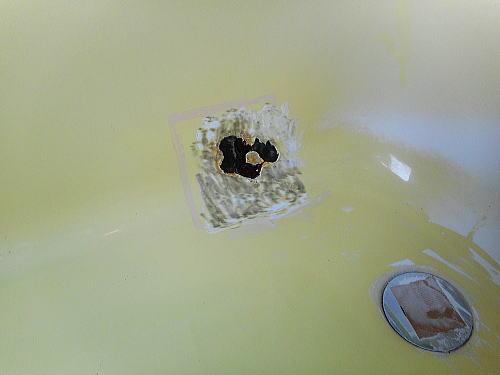 浴槽リフォームホテル施行中1北九州市