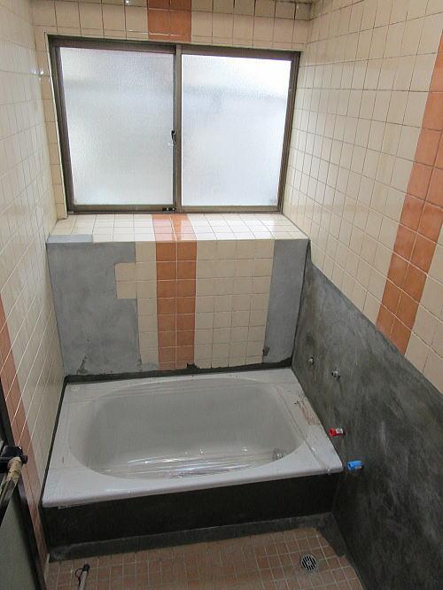 浴室リフォーム熊本H様邸施工中