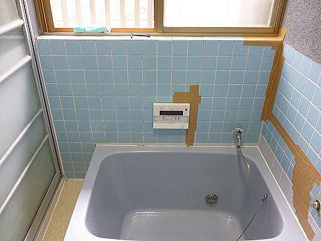 浴室リフォーム壁タイル熊本市北区N様邸施工前1