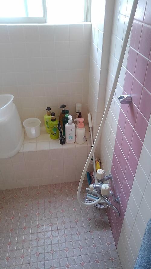 浴室床壁リフォーム鹿児島市施行前2