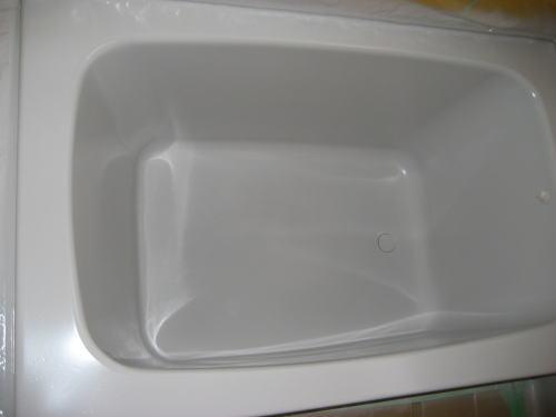 浴槽ステンレス塗装鹿児島市下塗り施工中