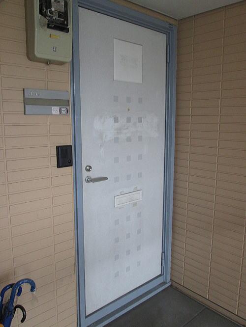 大野城市玄関ドア施工前