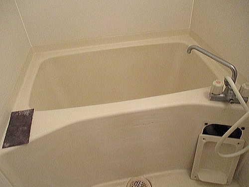 アパートユニットバス浴槽ひび割れリフォーム鹿児島市施工前2