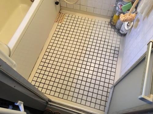 マンション浴室床タイルリフォーム福岡県糸島市