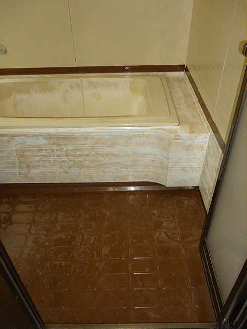 ユニットバス浴槽床リフォーム熊本県八代市施工前1