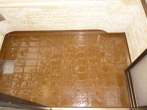 ユニットバス浴槽床リフォーム熊本県八代市施工前3