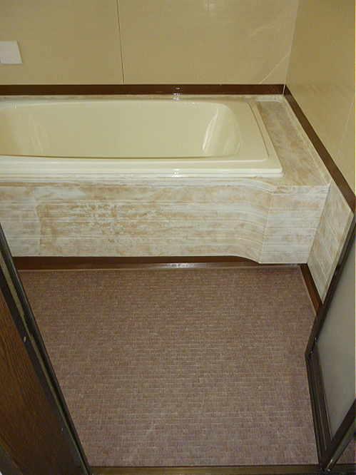 ユニットバス浴槽床リフォーム熊本県八代市施工後1