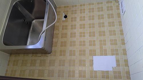 戸建て従来浴室タイル床リフォーム佐賀県神埼市施工前2