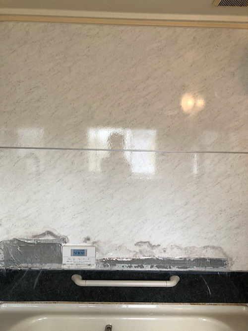 戸建ユニットバス壁リフォーム福岡県八女市施工前2