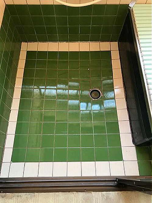 戸建従来浴室床タイルリフォーム長崎市施工前
