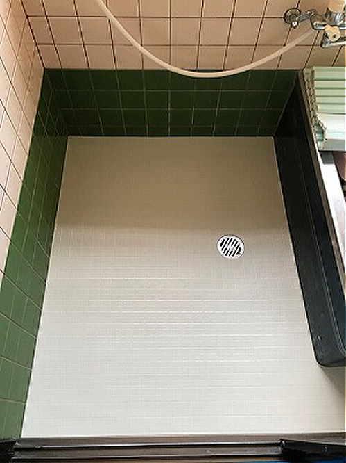 戸建従来浴室床タイルリフォーム長崎市施工後1