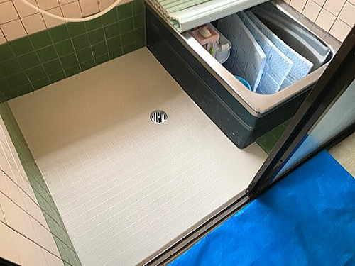 戸建従来浴室床タイルリフォーム長崎市施工後2