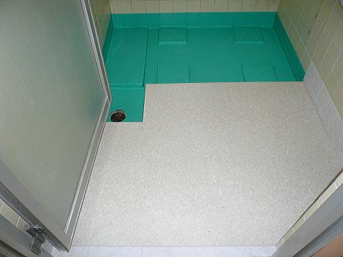 浴室床タイル格安リフォーム久留米市東町施工後