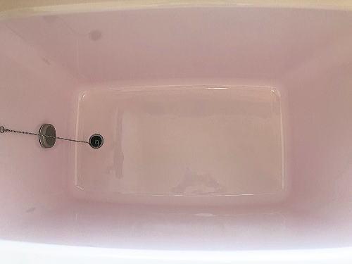 浴槽ひび割れ補修施工後1
